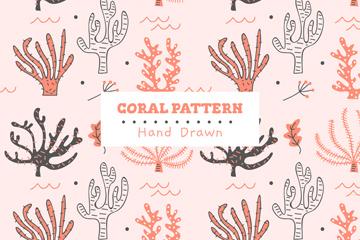 手�L珊瑚�o�p背景矢量素材