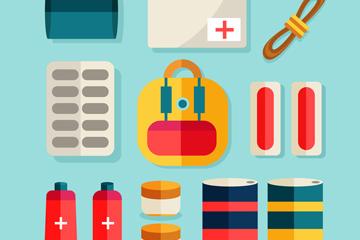 10款创意应急医疗物品矢量素材