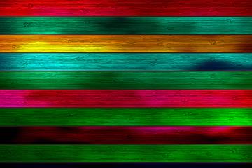 彩色条纹木板背景矢量素材