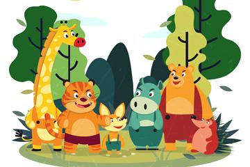 卡通笑�森林�游锸噶克夭�