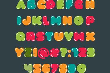 26款彩色�和�英文字母和15款�底址��矢量�D