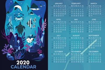 2020年��意海底世界年�v矢量�D