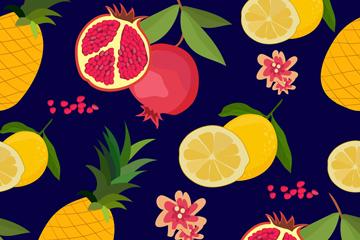 彩色���水果�o�p背景�O�矢量素材
