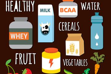 18款创意食物设计矢量素材