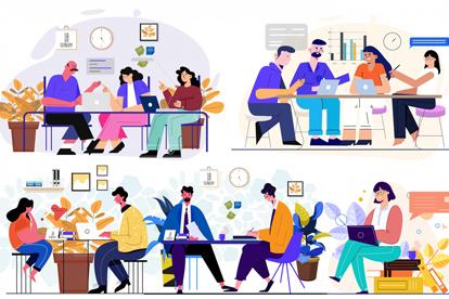5组创意商务人物矢量素材