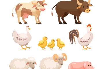 10款创意农场动物矢量素材