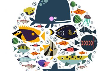 创意海洋鱼类矢量素材