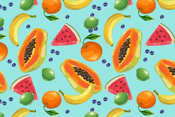 彩色���水果�o�p背景�O�矢量�D