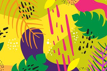 抽象树叶背景设计矢量素材