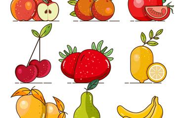 12款��意水果�O�矢量素材
