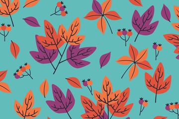 创意秋季落叶无缝背景矢量图