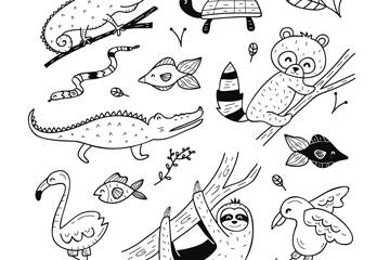 11款创意动物设计矢量素材