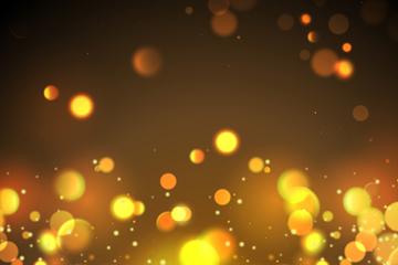 金色圆形光点矢量素材