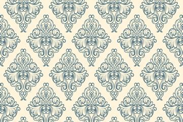 欧式复古花纹无缝背景矢量素材