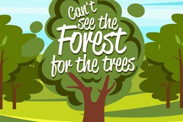 绿色森林树木矢量素材