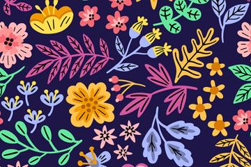 彩色抽象花卉和�淙~�o�p背景矢量�D