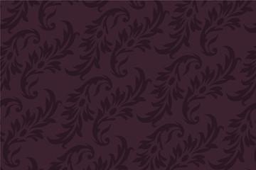 古典花叶花纹背景矢量素材