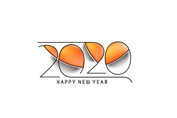 2020年新年艺术字设计矢量素材