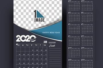 2020年时尚年历设计矢量素材