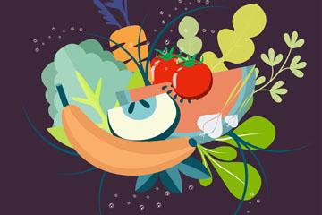 ��意新�r蔬菜矢量素材