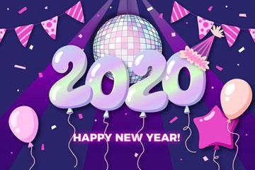 2020年紫色�馇蛐履曩R卡矢量素材