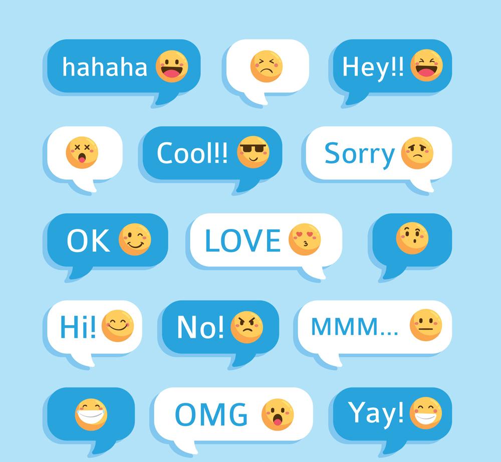 15款创意表情语言气泡矢量素材