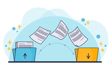 彩�L文件�鬏�概念�D矢量素材