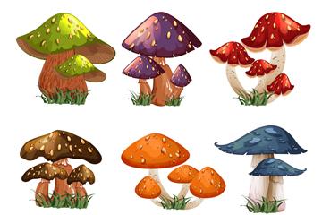9�M卡通蘑菇�O�矢量素材