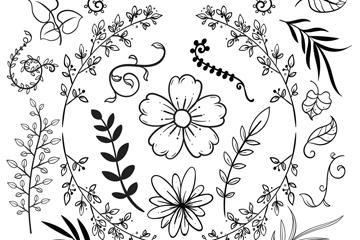 23款手�L�淙~花卉矢量素材