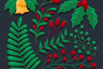 9款精美�日植物�O�矢量素材