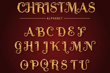 26��金色光�墒フQ�字母矢量素材