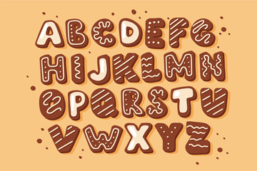 26����意�干字母�O�矢量素材