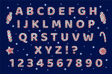 26��彩色�l�y糖果字母和12���底址��矢量�D