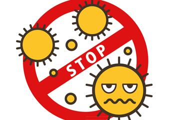 创意防病毒感染标志矢量素材