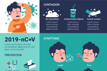 创意新冠肺炎预防信息图矢量素材