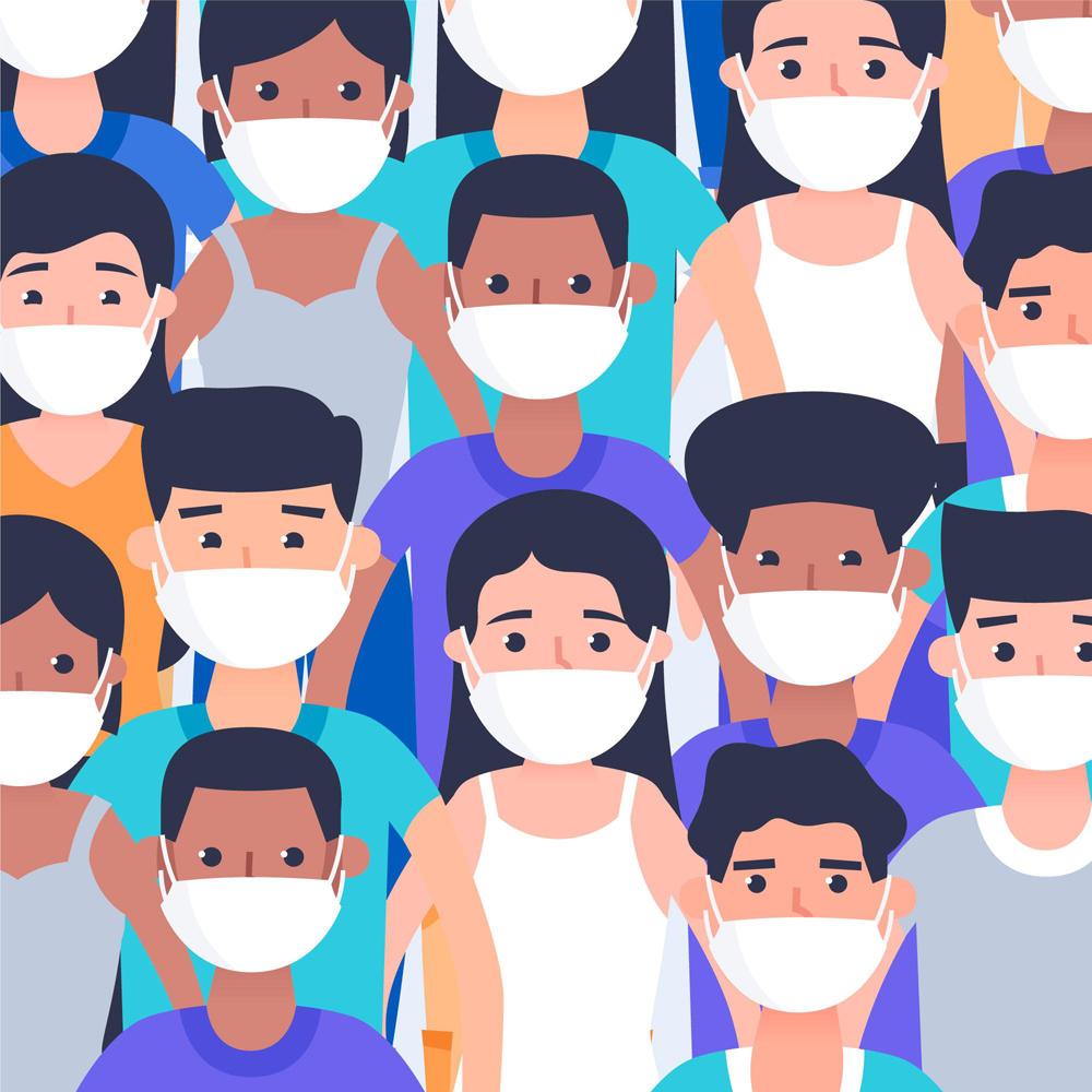 ai格式,含jpg预览图,关键字:新型冠状病毒,新冠肺炎,创意,口罩,人物图片