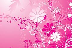 粉色时尚矢量花纹素材