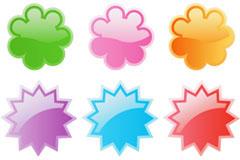 6个可爱web2.0徽章矢量图