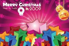 Merry Christmas 2009圣诞节主题矢量素材