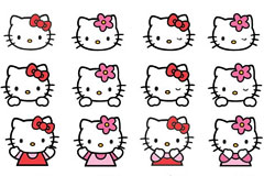 4�Hello Kitty形象矢量�D�]�