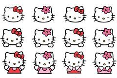 4页Hello Kitty形象矢量图专辑