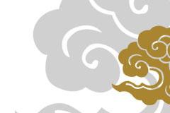 经典的中国云纹矢量图