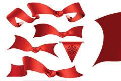 5款实用的红色丝带矢量图