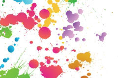 色彩斑斓的墨迹元素矢量素材