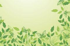 2款绿色花边矢量素材