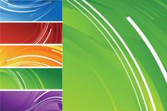5种颜色网页banner背景矢量素材