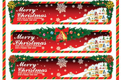 矢量圣诞节活动BANNER素材下载