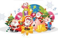多种矢量圣诞老人素材下载