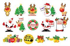 圣诞节卡片矢量素材下载