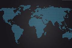 世界地图点状矢量图